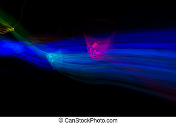 Light Painting - Light painting in different colors, long...
