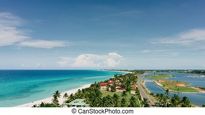 The movement of clouds in the sky resort of Varadero, the...