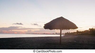 beautiful Sunrise Beach Cuba Timelapse