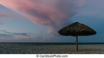 Sunset on the beaches of Cuba Timelapse