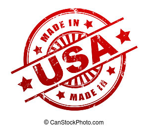 made in usa rubber stamp illustration