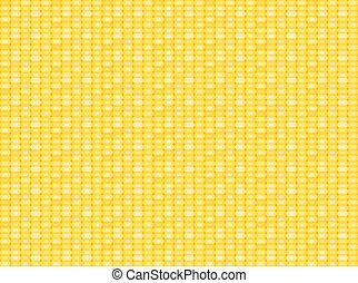 Seamless corn pattern and texture in flat style