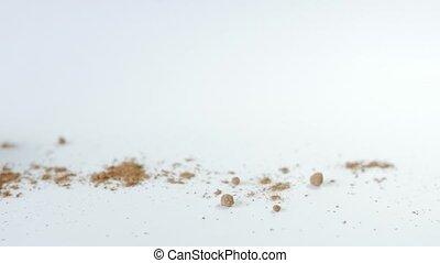 Chocolate truffles isolated on white background,Slider Shot,...