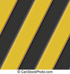 Hazard warning stripes