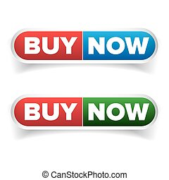 Buy Now button set vector isolated