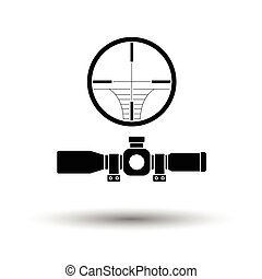 Scope icon. White background with shadow design. Vector...