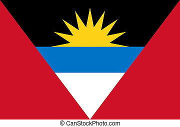 Antigua and Barbuda flag - Sovereign state flag of country...