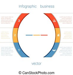 Infographic Strips and semicircle 3 - Vector Template...