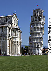 Leaning Tower of Pisa - Pisa - Italy - The bell tower of the...