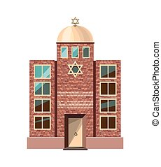 Jewish synagogue icon isolated on white background Vector...