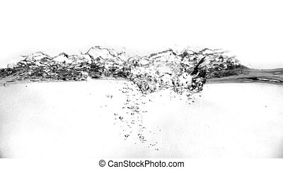 Water waves on a white background