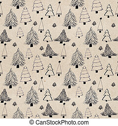 seamless textured Christmas pattern