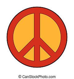 Peace symbol sign. - Peace symbol sign on white background....