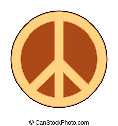 Peace symbol sign - Peace symbol sign on white background...
