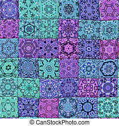 Quilt - An illustration of a hand crafted quilt made from...