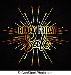 Black Friday sale background with a geometric design