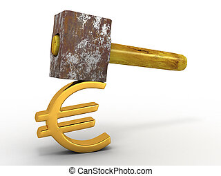 Hammer with sign euro