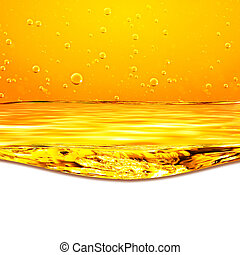 Orange yellow waves and white background for text below. -...