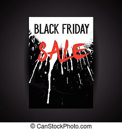 Black Friday sale background - Leaflet design for Black...