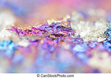 Bornite ore crystallizes mineral its blurred natural...