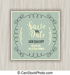 Save the date design - Decorative save the date invitation