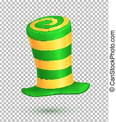 Green and yellow colors striped realistic vector carnival...