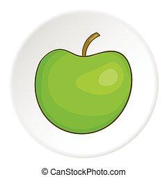 Apple icon, cartoon style