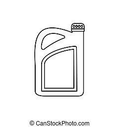 Oil or gasoline canister icon, outline style