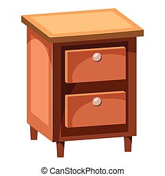 Chest of drawers icon, cartoon style