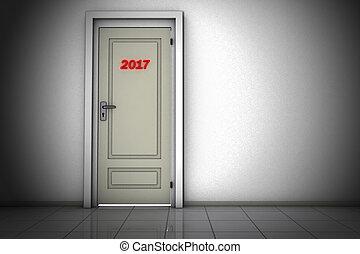 Door to 2017 - Door to the year 2017
