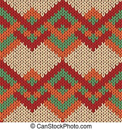 Knitting seamless zigzag pattern in various colors