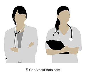 Female Doctor Silhouettes