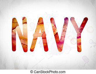 Navy Concept Watercolor Word Art