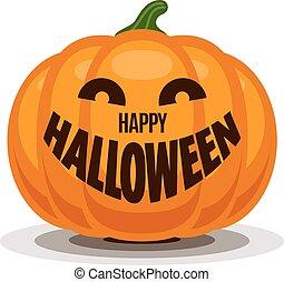 Happy Halloween with pumpkin
