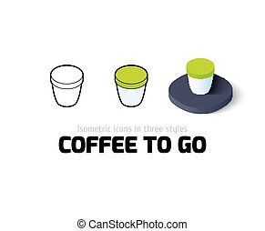 Coffee to Go icon in different style - Coffee to Go icon,...