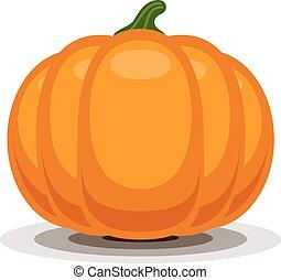 Orange vector pumpkin