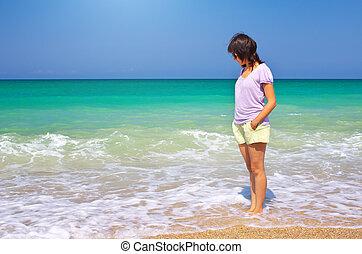 Girl on the beach.