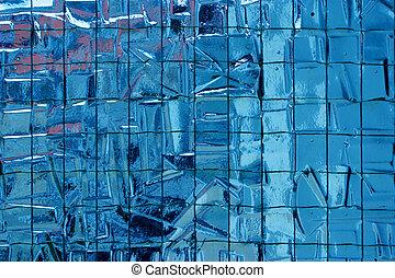 Reinforced mosaic glass
