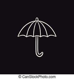 Umbrella sketch icon - Umbrella vector sketch icon isolated...