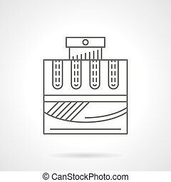 Cologne water flat line vector icon - Cologne water bottle...