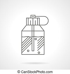 Spray perfumes flat line vector icon - Perfume in stylish...