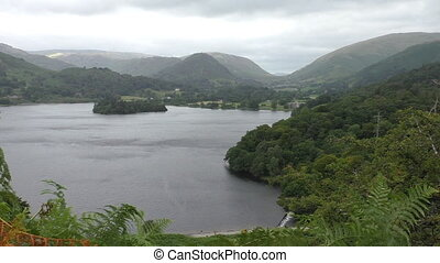 Grasmere lake view from above - Landscape of Lake District...