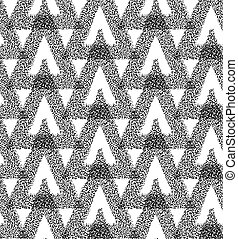 Triangle Abstract Chaotic Pattern - Vector Seamless Black...