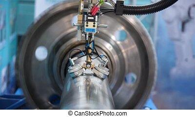 Industrial robot working macro - Industrial robot working...