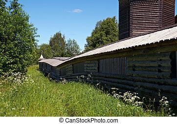 Pochozersky graveyard - Ancient wooden church Pochozersky...