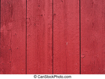 red painted barn boards make a rustic background
