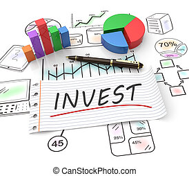 Concept of investment - 3D Illustration concept of...
