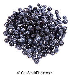 Blue Berries - Blue Berry: a stack of fruit on white...