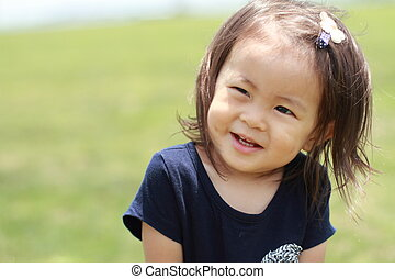 Smiling Japanese girl (1 year old)