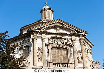 Church of San Giuseppe - Milano Italy - Detail of the facade...